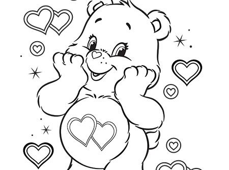 Coloriage Bisounours Coeur.Des Bisous Pour Un Hiver Tout Doux Les Bisounours
